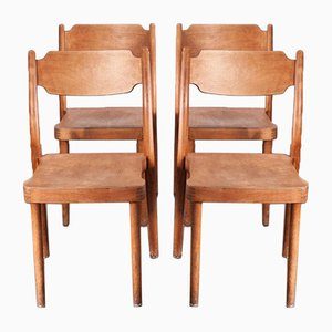 Industrial Portex Dining or Side Chairs by Peter Hvidt, Denmark, 1960s, Set of 4