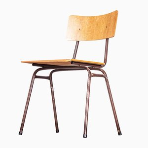 Dutch Industrial Stacking Metal Frame University Dining or Café Chair, 1960s