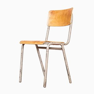 Belgian Air Force Stacking Metal Frame Dining or Café Chair from Tubax, 1950s