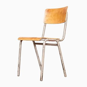 Belgian Stacking Metal Side Chair from Tubax, 1950s