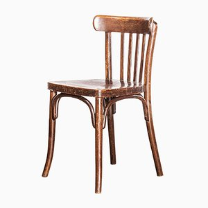 Dark Stained Beech Bentwood Dining Chair from Thonet, 1930s