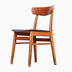 Mid-Century Danish Teak Upholstered Dining Chair, 1960s, 1960s, Set of 6