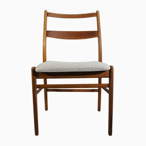 Teak and Oak Model Minett Dining Chairs by Yngve Ekström for Hugo Troeds, 1950s, Set of 4