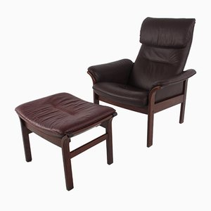 Lounge Chair and Ottoman Set from Göte Möbler, 1970s
