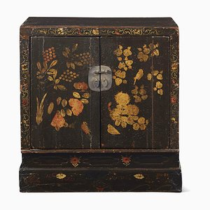 Chinese Painted Book Cabinet, 1860s