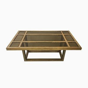 Italian Brass, Chrome, and Glass Dining Table by Romeo Rega, 1970s