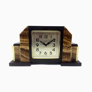 Art Deco French Marble Clock from Bayard, 1930s