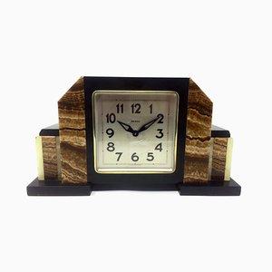 Horloge Art Déco en Marbre de Bayard, France, 1930s