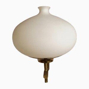 Italienische Messing & Glas Modell 12891 Wandlampe von Angelo Lelli, 1960er