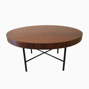 Italian Round Rosewood Coffee Table in the Style of Parisi, Ico, 1950s