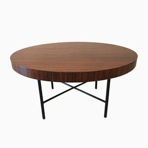 Table Basse Ronde en Palissandre dans le Style de Parisi, Italie, 1950s