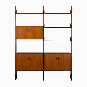 Italian Free Standing Wall Unit in the Style of Vittorio Dassi, 1970s