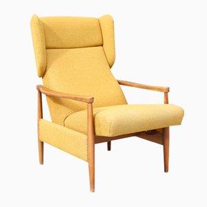 Danish Adjustable Relax Lounge Chair, 1950s