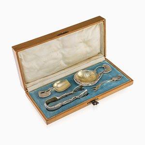 Antikes Russisches Silbernes Besteck von Marian Sokolov, 1900er, 4er Set