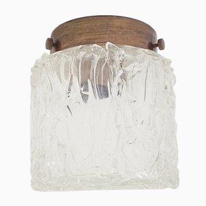 Lampada a incasso in vetro di Murano in vetro di Murano di Venini, anni '60