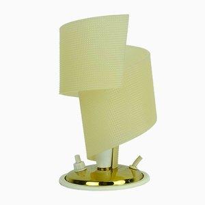 Kleine Mid-Century Messing und Plastik Tischlampe, 1950er