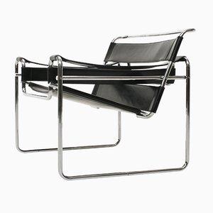 Chaise Bauhaus Modèle B3 Wassily par Marcel Breuer pour De Coene, 1950s