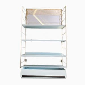 VIntage Metal Shelf with Mirror and Drawer, 1950s