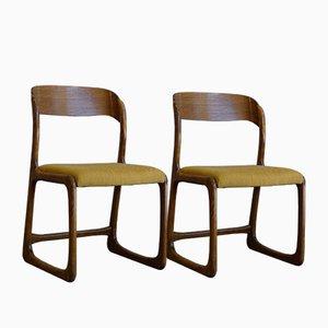 Vintage Traineau o Sleigh sedie da pranzo di Emile & Walter Baumann, 1960, Set di 2 pezzi