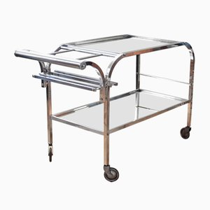 Art Deco Bar Trolley Attributed to Jacques Adnet, 1940s