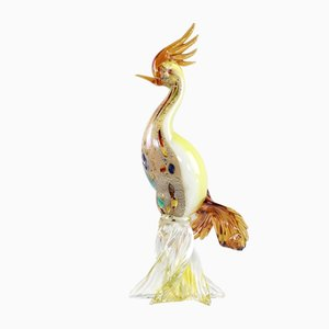 Murano Glass Paradise Bird Sculpture, 1950s