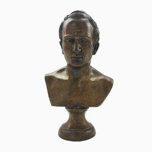 Busto italiano de bronce del senador romano Cicerón, siglo XIX