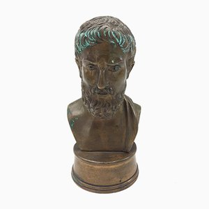 19th Century Italian Bronze Bust of a Greek Philosopher