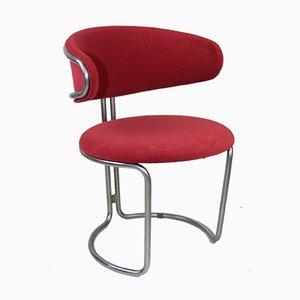 Beistellstuhl aus Stahlrohr im Stil von Panton, 1960er