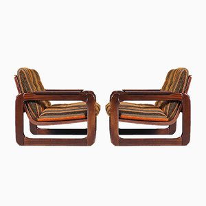 Italienische Mid-Century Sessel, 1970er, 2er Set