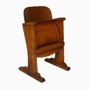 Sedia da teatro in legno, anni '50