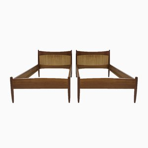 Teak Bed Frames by Børge Mogensen, 1950s, Set of 2