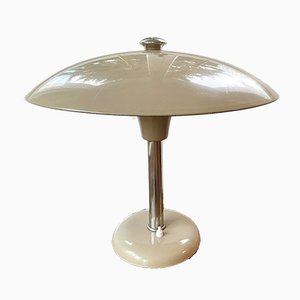 Bauhaus German Metal Table Lamp by Max Schumacher for Schröder, 1934