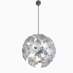 Plafonnier Sputnik en Verre Chromé par Paolo Venini pour VeArt, 1960s