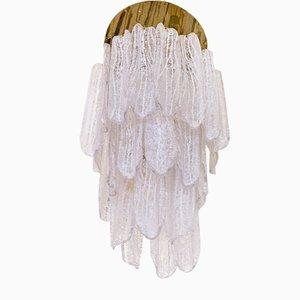 Lámpara de araña de cristal de Murano de Venini, años 60