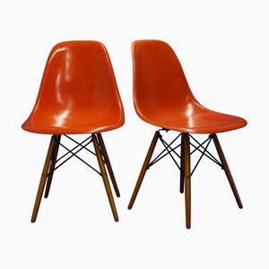 Modell DSW Stühle von Charles & Ray Eames für Vitra, 1960er, 2er Set