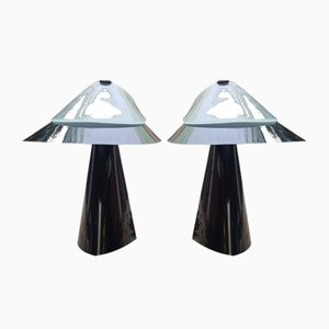 Vintage Model Artu Table Lamps by Bruno Negretti for Lumina, 1970s, Set of 2
