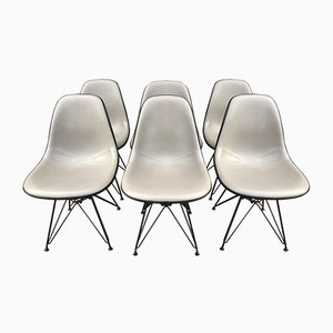 Vintage Model DSW Dining Chairs by Charles Eames for Herman Miller, 1970s, Set of 6