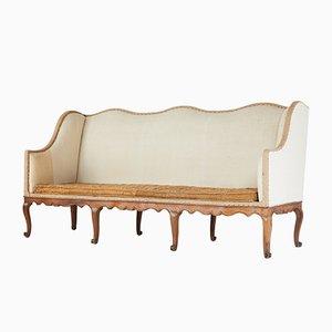 Großes Französisches Sofa aus Nussholz, 18. Jh
