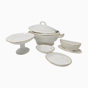 Astonishing Ceramic Tureen Soup Set from Laveno, Italy, 1950s
