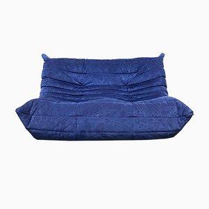 Blaues Mid-Century 2-Sitzer Tanto Sofa aus Alcantara von Michel Ducaroy für Ligne Roset, 1980er