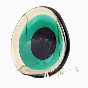 Italian Murano Glass Bowl by Flavio Poli for Seguso, 1950s