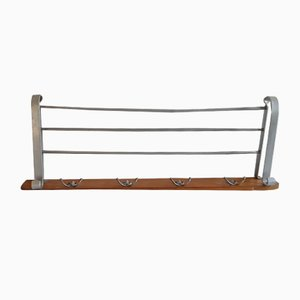 Vintage German Maple and Aluminum Rack, 1950s
