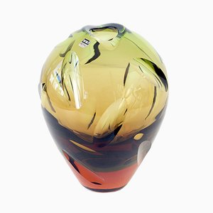 German Art Glass Vase by Erich Jachmann for WMF, 1950s