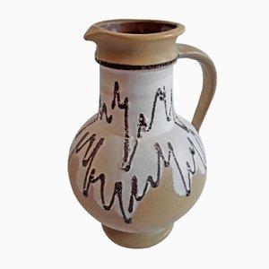 Vintage Fat Lava Ceramics in Olivgrün, Weiß und Schwarz 1809/25 Krug von Jopeko, 1970er