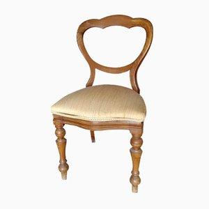 Walnuss Schreibtischstuhl mit Stoffsitz