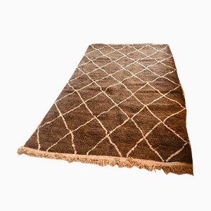 Handmade Woolen Berber Rug, 1970s