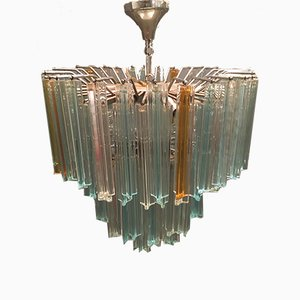 Lámpara de araña de Paolo Venini para Murano, años 70