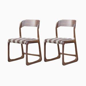 Französische Schlitten Stühle von Baumann, 1950er, 2er Set