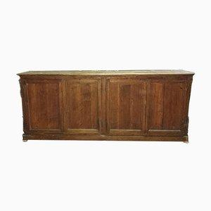 Vintage Italian Solid Pine Wood 4-Wood Sideboard, 1850s