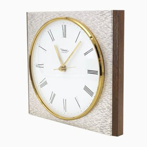 Wooden and Metal Wall Clock from Diehl, 1960s
